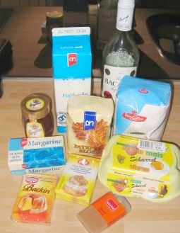 Honeycake ingredienten!